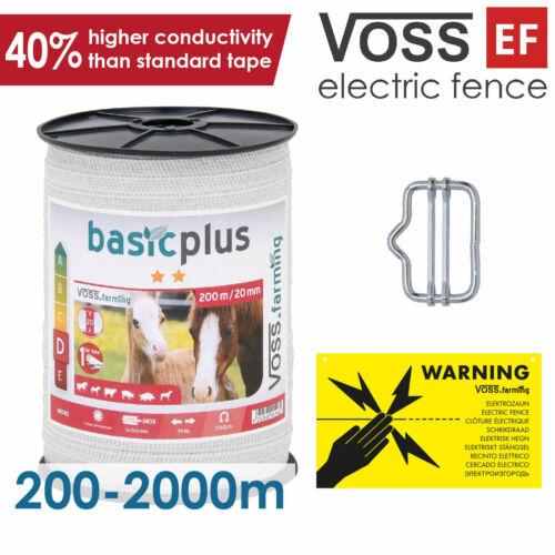 Electric Fence Tape 20mm200-2000mVOSS.farming7.98 Ohmbasicplus