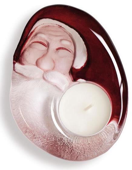 Mats Jonasson Crystal Santa Claus Votive Tea Light Candle Holder 69010- New