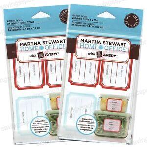 Martha Stewart Removable Kitchen Labels Freezer Spice Jars Pantry