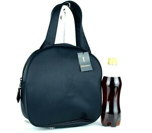 Authentic-YSL-Yves-Saint-Laurent-Black-Nylon-Hand-Bag-Purse-Italy-Good-Condition