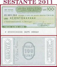 BANCA CATTOLICA DEL VENETO Lire 100 29.10. 1976 CONFESERCENTI  ROVIGO B99