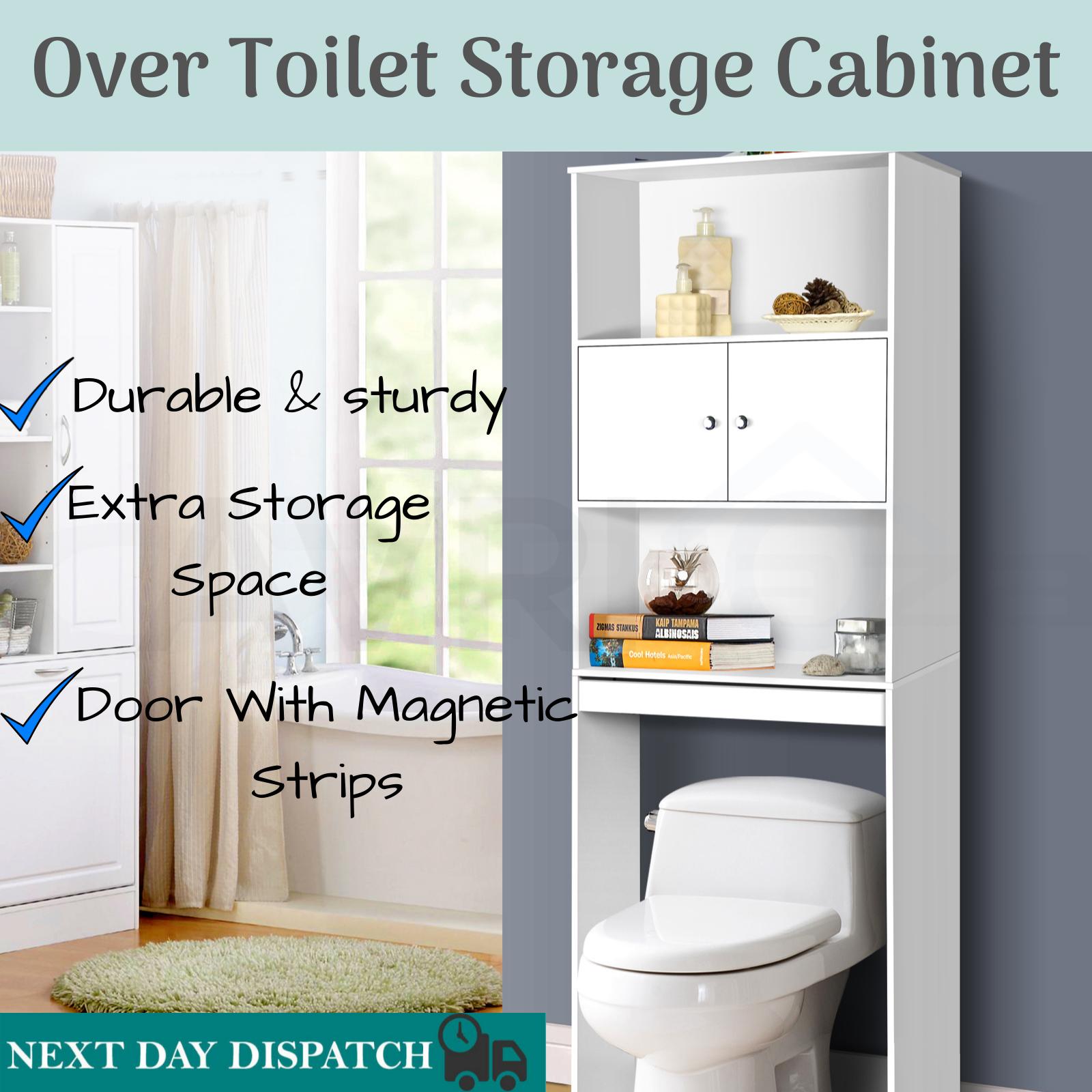 Toilet Storage Cabinet Shelf Above
