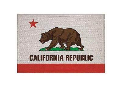Aufnäher Kalifornien Fahne Flagge Aufbügler Patch 9 x 6 cm