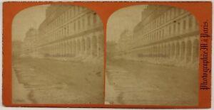 Parigi-La-Comune-Rue-Da-Rivoli-Foto-Stereo-P28T3n17-Vintage-Albumina-c1870-71