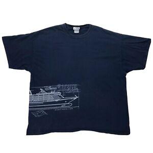 Disney-Cruise-Line-Dream-Blue-Print-Shirt-Sz-2XL-Double-Sided-Short-Sleeve-Tee