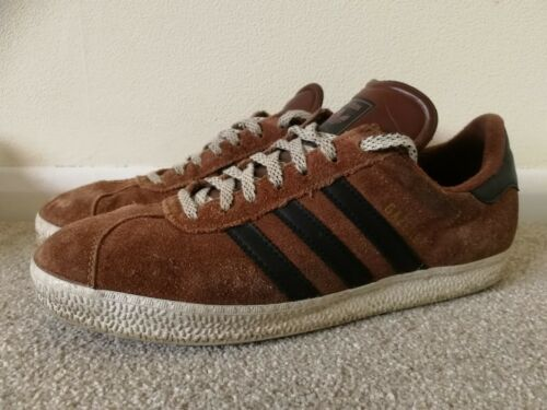 ChaussuresUk 3 10 Classic Taille Gazelles Brun Sneakers Adidas Stripe xtsQBhdCr