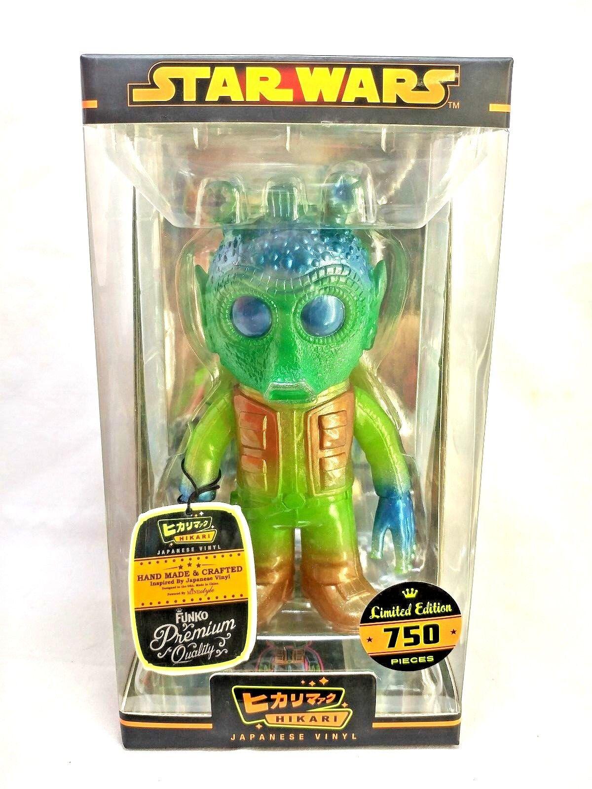 Funko Hikari Japanese Star Wars LE 750 Clear Green Glitter Greedo Vinyl Figure