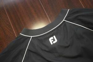 25533-Mens-FootJoy-Black-V-Neck-Wind-Breaker-Pull-Over-Golf-Jacket-Size-Medium