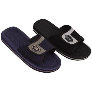 Men's Sandals Flip Flops Hook and Loop Slide Sport Slip on Slippers, Sizes: 7-13