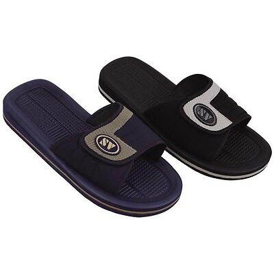 Men's Sandals Flip Flops Hook and Loop Slide Sport Slip on Slippers, Sizes: 7-13