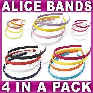 Set-of-4-Alice-bands-headband-aliceband-fabric-head-hair-band-women-girls-school