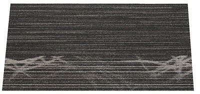 "SHAW Chevron Abstract Edge Black Carpet Tiles 18"" x 36"""