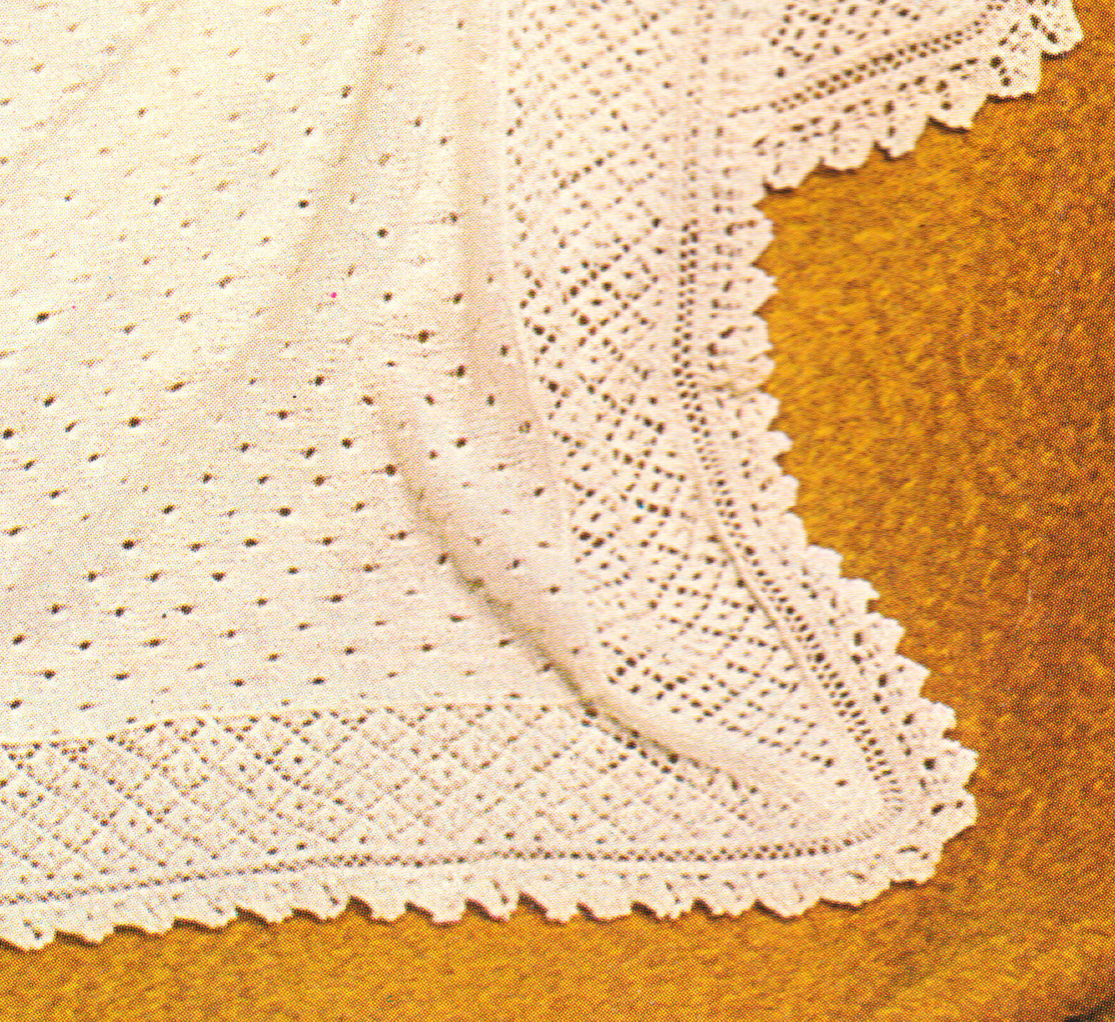 Cherished Baby Shawl Pattern ~ Lacy Texture ~ 2 Ply ...
