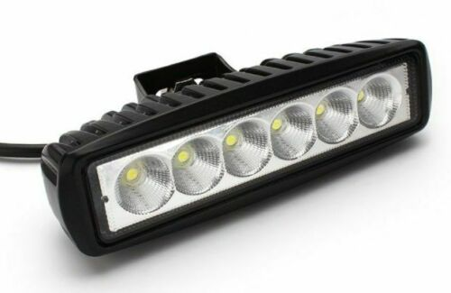 Plat 18 W DEL Lampe de travail 12 V Flood Beam 24 V Camion Jeep ATV Quad Voiture