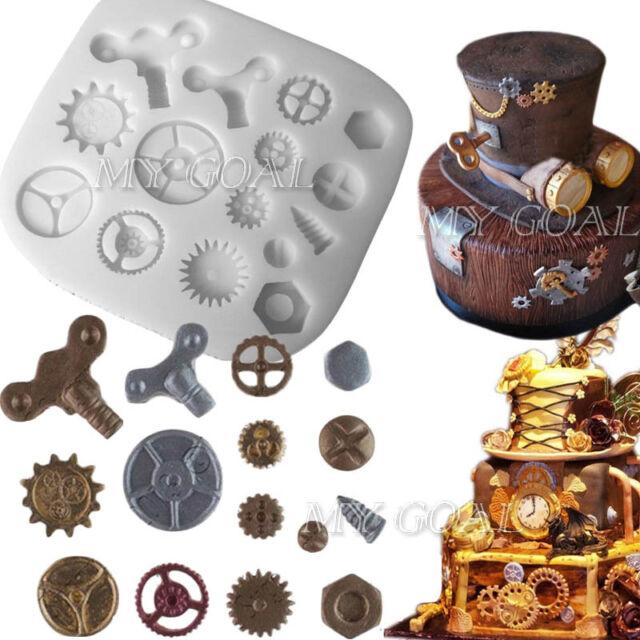 DIY Silicone Fondant Cake Decor Mould Icing Sugarcraft Chocolate Paste Bake Tool