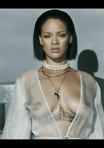RIHANNA-4-SEXY-CELEBRITY-SINGER-NEW-A1-CANVAS-GICLEE-ART-PRINT-POSTER