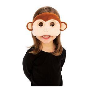 Child's Boys Girls Plush Animal Baby Monkey Chimp Ape Halloween Costume Eye Mask