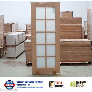 Image is loading French-Doors-10-Lite-Translucent-White-Glass-Solid- & French Doors 10 Lite Translucent White Glass Solid Timber Doors ...