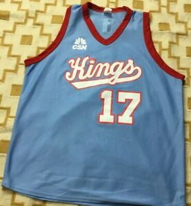 newest collection 4e2e3 27bf2 Throwback Sacramento Kings Authentic Fan NBA Jersey SZ XL ...