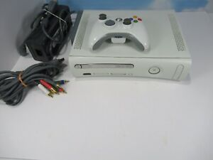 MICROSOFT-XBOX-360-60GB-HDD-WHITE-CONSOLE-VIDEO-GAME-WIRELESS-CONTROLLER-WORKS