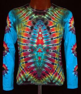 Dye Handgefärbt Power Flower Tie shirt Langarm T Gr Hippie s 5xl Neu Batik Goa H86wnxqF