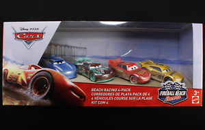 Fireball-Beach-Racers-4-Pack-with-Cam-Spinner-Disney-Pixar-Cars-3-Mattel-1-55-Nuevo-en-Paquete
