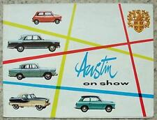 AUSTIN CAR RANGE Sales Brochure c1959? #1822 SEVEN A55 A99 A40 METROPOLITAN 1500