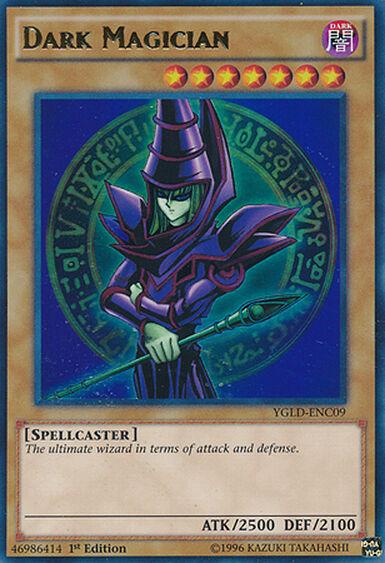 Dark Magician Ultra Rare  Yugioh Card YGLD-ENC09