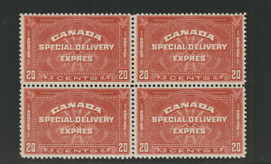 CANADA-E5-special-Delivery-Block-of-4-F-VFNH