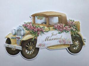 Carol-Wilson-Fine-Arts-Card-Her-Embossed-Car-Roses-Wedding-Married-Zifen-Qian