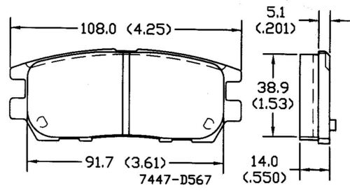 Disc Brake Pad Set Rear OMNIPARTS 13050414 fits 1992 Mitsubishi Montero