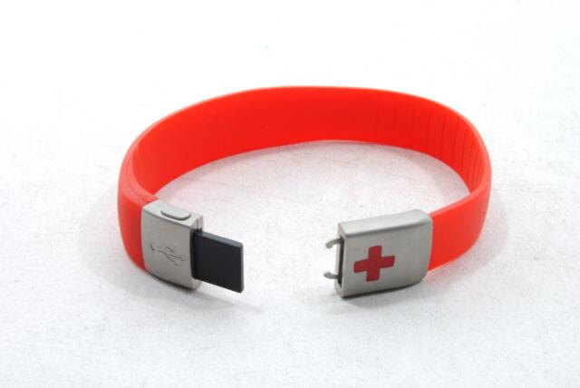EPIC ID USB MEDICAL EMERGENCY ID BRACELET, RED