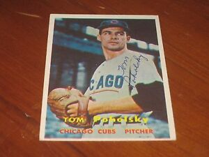 Details About Tom Poholsky Autographed Baseball Card Jsa Auction Certified