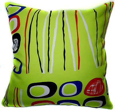Polka Dot Circle Pure Cotton Canvas Fabric Cushion Cover/Pillow Case CustomSize