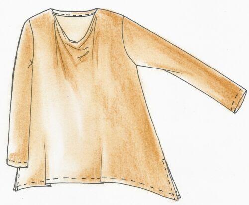Schnittmuster Lagenlook Shirt Wasserfall Gr L 48//50