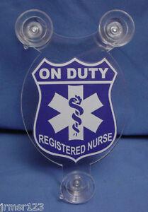 REGISTERED-NURSE-or-REGISTERED-DOCTOR-CAR-SHIELD-NURSE-DOCTOR-MEDICAL-ITEM