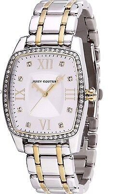 NIB Juicy Couture Beau Series Ladies Crystal Two Tone Quartz Watch 1900976
