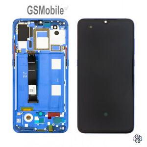 Display-Pantalla-Ecra-LCD-Tactil-Touch-Frame-Marco-Azul-Xiaomi-Mi9