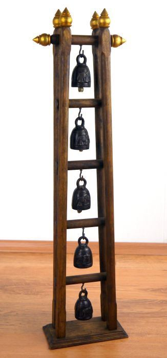 me of bells Asian bronze bells elephant carving beautiful home accessory