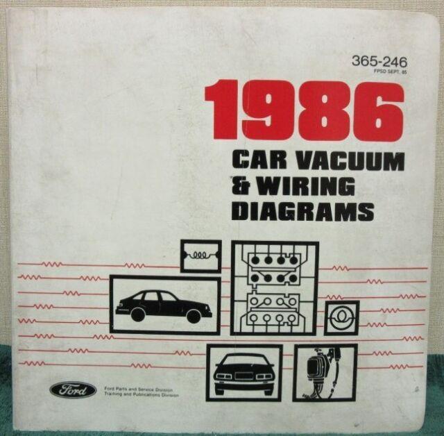 1986 Ford Car Vacuum  U0026 Wiring Diagrams