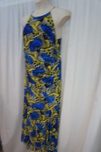 Taille Bleu Clair Jaune Nine West 14 Long Décontractée Tournesol Surf Multi Robe w6qpEp7