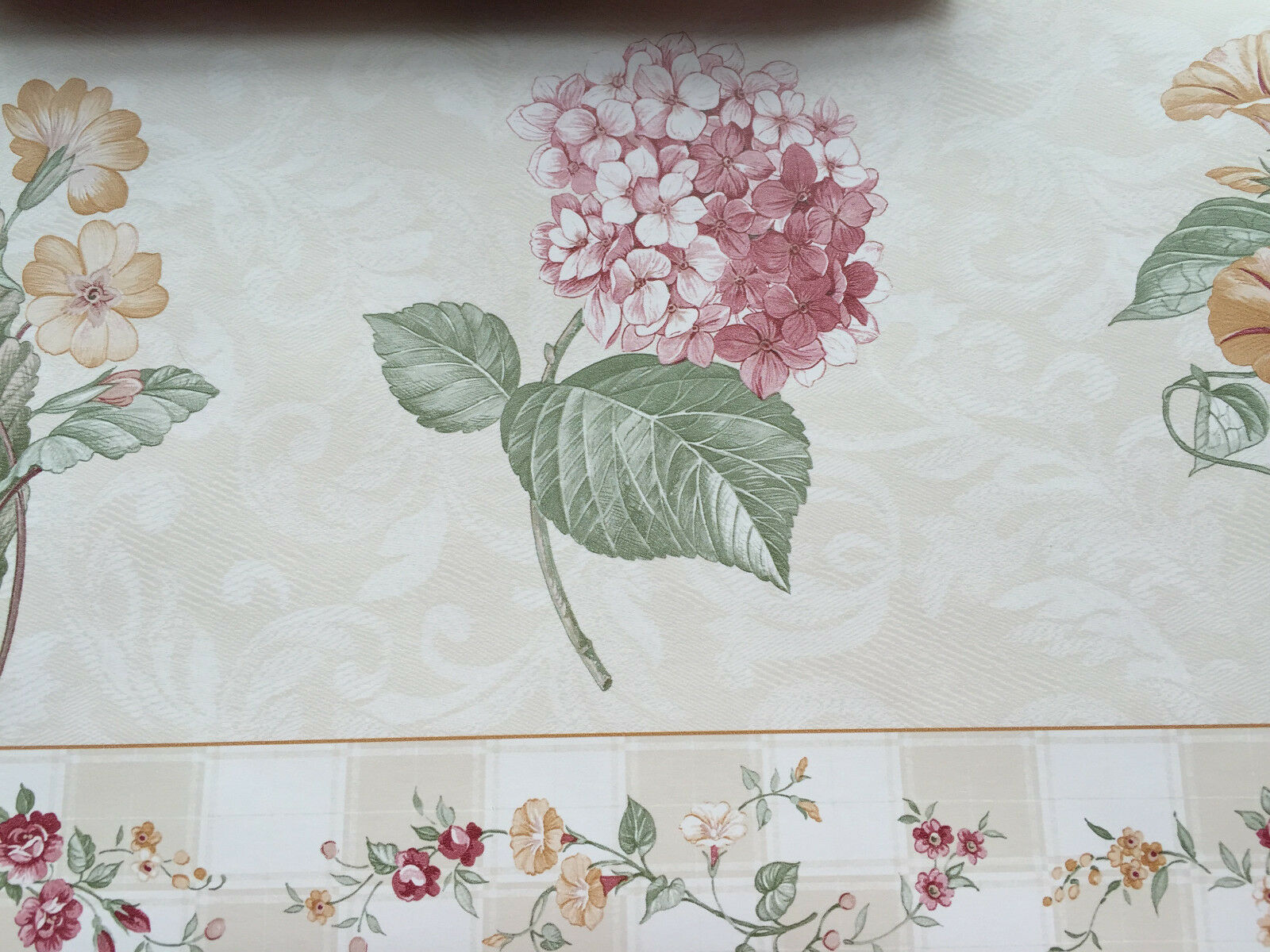 3 ROLLS BEAUTIFUL VICTORIAN FLOWERS 5 YARDS EACH AND 9 INCHES