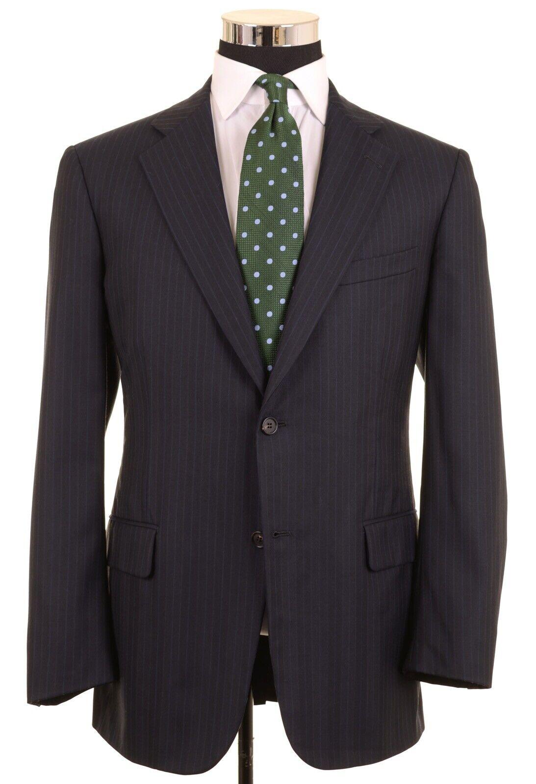 Brooks Brothers GelbGolden Fleece Blau Gestreift Wolle 2pc Anzug Jacke Hose 41 R