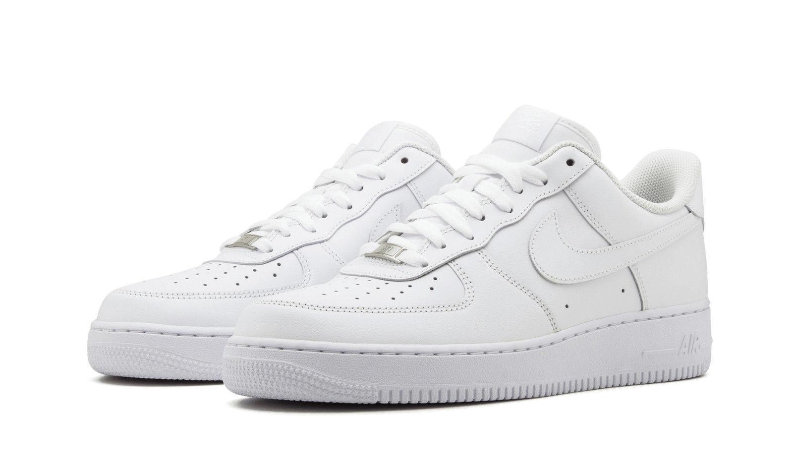 Nike air force 1 basso scarpe da uomo bianco / cuoio bianco 315122-111