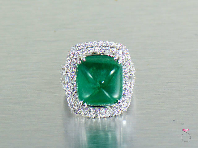 a105b315137e2 17 Magnificent ct. 18K Certified. GIA gold in Ring Diamond Emerald ...