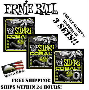 3 Pack Ernie Ball Cobalt Regular Slinky 2721 Electric