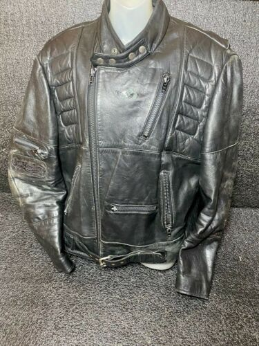 VTG SCHOTT Leather Motorcycle Jacket Quilted Linin