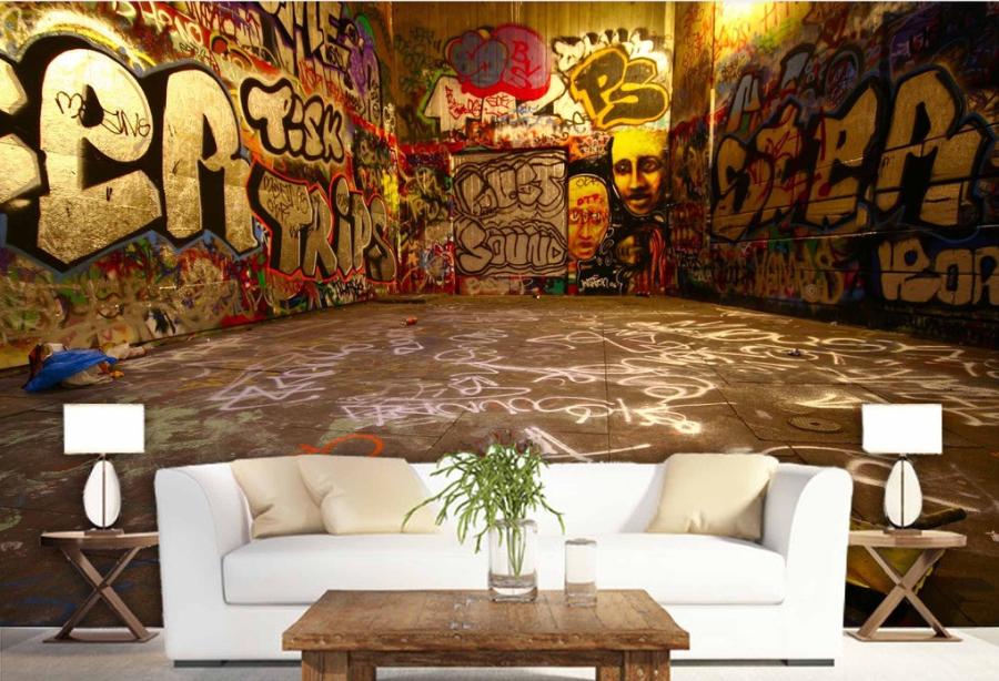 3D Graffiti Room 784 Wall Paper Murals Wall Print Wall Wallpaper Mural AU Kyra