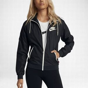 Details about NEW WOMENS XS NIKE SPORTSWEAR WINDRUNNER HOODIE JACKET BLACK WHITE SAIL 904306