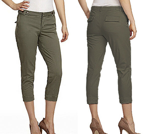 118 Joe's Jeans Stretch Cotton Rider Cropped Olive Pants